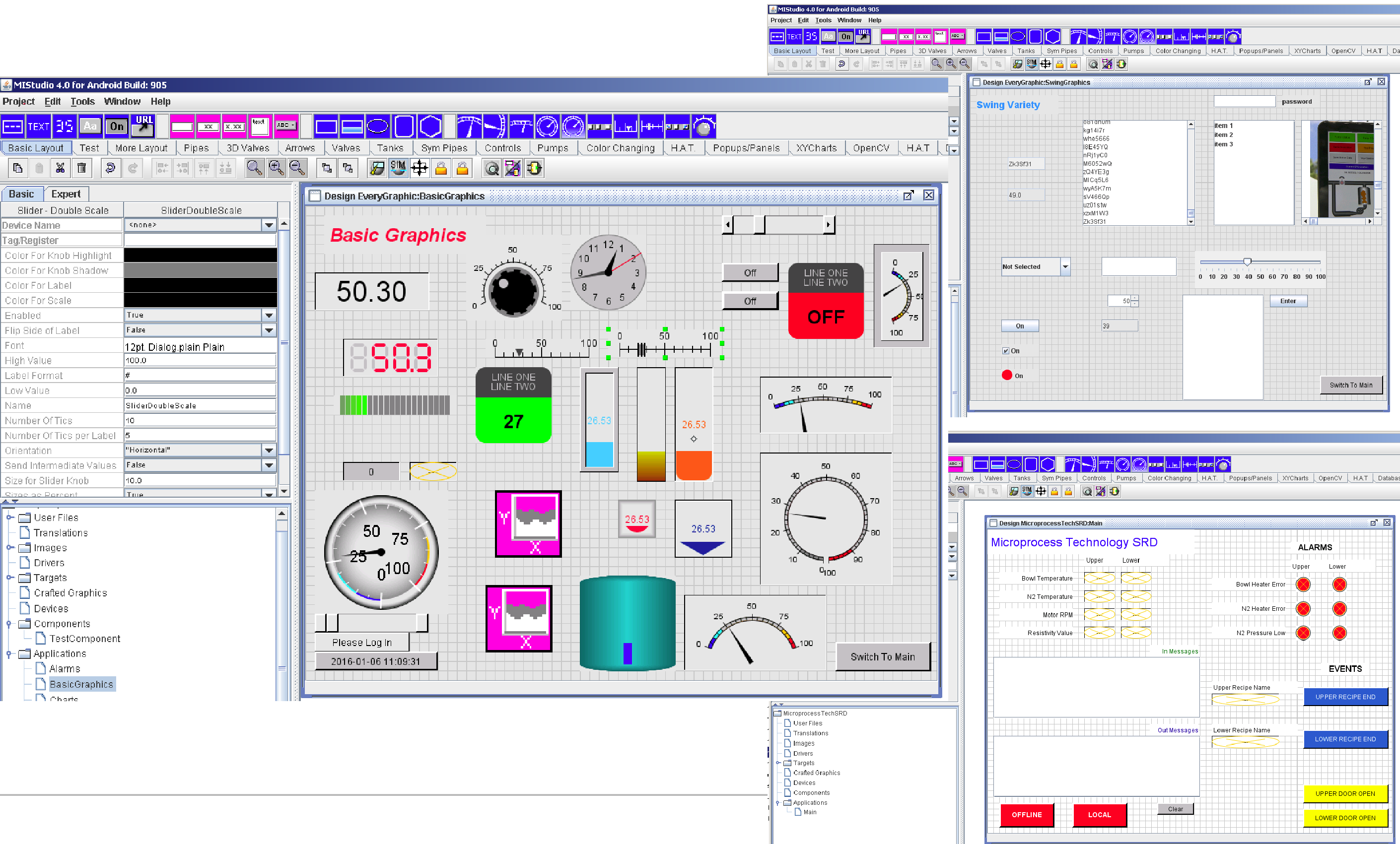 Choose from Many HMI Components